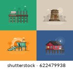 Travel Seaside Landscapes Set...