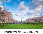 Small photo of The Danish Honorary Consul of Hiroshima gave Copenhagen 200 flowering sakura trees, Cherry Blossom at Copenhagen, Church of Saint Alban and Aegir fountain in Copenhagen, Denmark