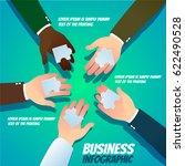business infographic   teamwork ... | Shutterstock .eps vector #622490528