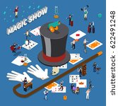 magic show isometric... | Shutterstock .eps vector #622491248