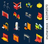 theatre isometric icons set on... | Shutterstock .eps vector #622492070
