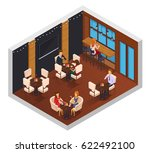 cafe interior restaurant... | Shutterstock .eps vector #622492100
