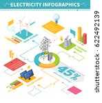 electricity isometric... | Shutterstock .eps vector #622492139
