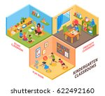 kindergarten indoor isometric... | Shutterstock .eps vector #622492160