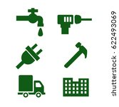 set of icons with tools | Shutterstock .eps vector #622493069