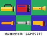 flashlight  a set of... | Shutterstock .eps vector #622493954