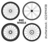 bicycle wheel symbol vector.... | Shutterstock .eps vector #622494458