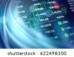 economy and finance abstract... | Shutterstock . vector #622498100