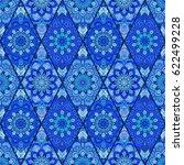 blue tile seamless pattern.... | Shutterstock .eps vector #622499228