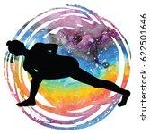 women silhouette on galaxy... | Shutterstock .eps vector #622501646