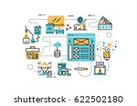 web design line icons... | Shutterstock .eps vector #622502180