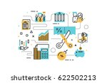 taxs and finance line icons... | Shutterstock .eps vector #622502213