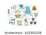 startup business line icons... | Shutterstock .eps vector #622502228