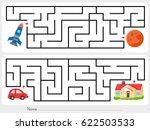 maze game  help rocket find the ... | Shutterstock .eps vector #622503533