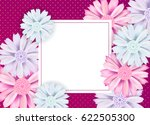 Floral Card Design With Aster...