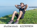 fitness training. young... | Shutterstock . vector #622509854