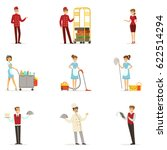 staff in the hotel set for... | Shutterstock .eps vector #622514294