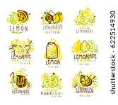 lemonade green and yellow set... | Shutterstock .eps vector #622514930