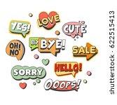 comic speech bubbles for...   Shutterstock .eps vector #622515413