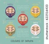 vector illustration of daruma... | Shutterstock .eps vector #622516433