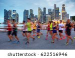 group of runners on singapore...   Shutterstock . vector #622516946