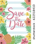 save the date invitation card... | Shutterstock .eps vector #622518410