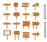 wooden signboards  wood arrow... | Shutterstock . vector #622521194