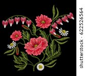 embroidery stitches with red... | Shutterstock .eps vector #622526564
