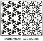 vector monochrome seamless...   Shutterstock .eps vector #622527308