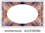beautiful oval frame with... | Shutterstock .eps vector #622528580