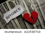 broken heart with divorce paper ... | Shutterstock . vector #622530710