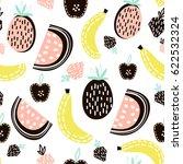 exotic fruit seamless pattern.... | Shutterstock .eps vector #622532324