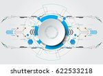 grey white circle with various... | Shutterstock .eps vector #622533218