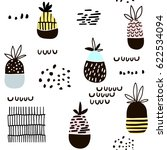 seamless pattern with pineapple.... | Shutterstock .eps vector #622534094