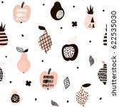 seamless pattern with creative... | Shutterstock .eps vector #622535030
