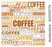 coffee words cloud collage  art ... | Shutterstock .eps vector #622535774