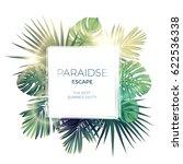 green summer tropical... | Shutterstock .eps vector #622536338