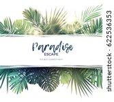 green summer tropical... | Shutterstock .eps vector #622536353