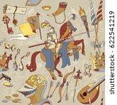 medieval seamless pattern ...   Shutterstock .eps vector #622541219
