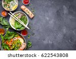 assorted asian dinner with...   Shutterstock . vector #622543808