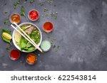 traditional vietnamese noodle... | Shutterstock . vector #622543814