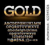 vector strong set of golden... | Shutterstock .eps vector #622545326