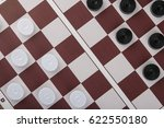 checkers on the board | Shutterstock . vector #622550180
