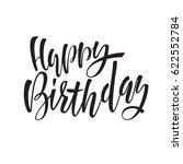 happy birthday lettering for... | Shutterstock .eps vector #622552784