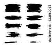 set of black paint  ink brush... | Shutterstock .eps vector #622560083