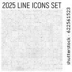 exclusive 2025 thin line icons... | Shutterstock .eps vector #622561523