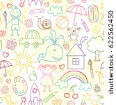seamless pattern with child... | Shutterstock .eps vector #622562450