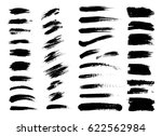 set of black paint  ink brush... | Shutterstock .eps vector #622562984
