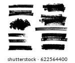set of black paint  brush... | Shutterstock .eps vector #622564400