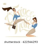 business woman characters.... | Shutterstock .eps vector #622566293